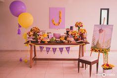 Decoração de festa Rapunzel #festainfantil #disney #festa #decoração #decoraçãodefestas #partyideas #rapunzel Rapunzel Birthday Party, Tangled Party, Disney Princess Party, 3rd Birthday Parties, Baby Birthday, Bolo Rapunzel, Rapunzel Disney, Tangled Rapunzel, Ballerina Party