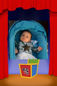 Pic Pop ($0.99)  a fun interactive slide show application created with toddlers in mind. * Add photos of your family, friends & pets to the Pic Pop box.   * Tap the Pic Pop box to cycle through the pictures.  * Double tap picture to spin it into the next picture.  * Kids love to touch & drag the photos, putting them in the box/tapping the next one out!  * Double tap picture to spin it into next picture.  Great way for youngsters to get to know their family members faces.