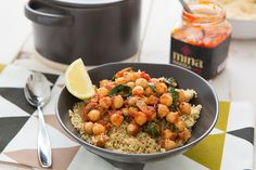 Spicy Chickpea & Spinach Stew