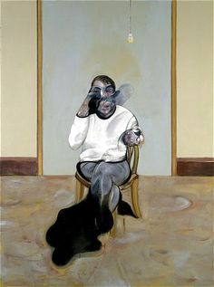 FRANCIS BACON Three Portraits. Posthumous Portrait of George Dyer, Self-Portrait, Portrait of Lucian Freud, 1973 Medium Oil on canvas Dimensions 198 x 147.5 cm (each) Collection Marlborough International Fine Art