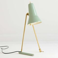 Anonymousl; Brass and Enameled Metal Table/Wall Light by Stilnovo, 1956.