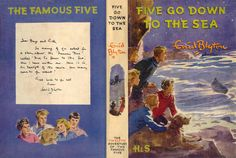 Five Go Down to the Sea by Enid Blyton - Cover art: Eileen Soper Children's Book Illustration, Illustrations, Famous Five Books, Enid Blyton Books, Mystery, Book Challenge, Books For Teens, Free Prints, Bookbinding