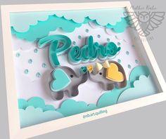 """NATHIE BUHO  • Art Quilling 🦉 on Instagram: """"Encomenda Porta Maternidade 🖼  para #Pedro  com sua irmãzinha ☁️🐘🐘🌨🧡💚 ⠀ • • ⠀ #paperdesign  #quadrodecorativo  #menino #chuvadeamormenino…"""" Arte Quilling, Quilling Letters, Paper Quilling Patterns, Quilling Paper Craft, Paper Crafts, Fun Arts And Crafts, Diy And Crafts, Crafts For Kids, Paper Flower Wreaths"""