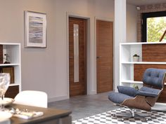 Walnut Mistral - The lovely walnut finish of our doors complements the interior furnishings perfectly