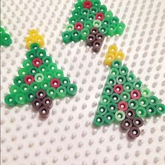 Christmas trees hama beads by  kolossaltpyssligt