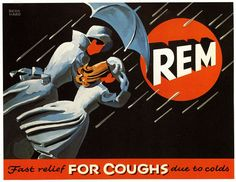 vintage Rem cough syrup advertisement by Lucian Bernhard