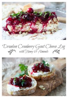 Drunken Cranberry Goat Cheese Log | SimpleHealthyKitchen.com
