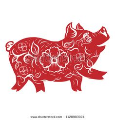 Happy Chinese New Year 2019 year of the pig.Chinese Zodiac Sign Year of Pig.isolate on background Chinese New Year Poster, Chinese New Year Card, New Years Poster, Chinese Art, Pig Crafts, New Year's Crafts, Crafts To Make, Chinese New Year Crafts For Kids, New Year Printables