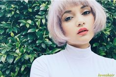 Extremely Cute Short Lilac Bob