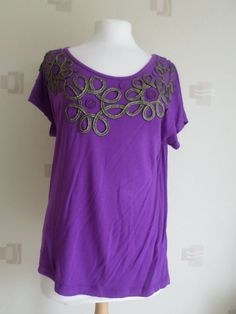 LADIES DAVID EMANUEL TOP (SIZE 16) BNWT, PURPLE