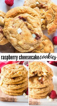 Chewy, buttery White Chocolate Raspberry Cheesecake Cookies are a homemade version of well-loved Subway cookies! So fun to make and everyone LOVES them! Subway Raspberry Cheesecake Cookies, Raspberry White Chocolate Cookies, Raspberry Cookies, Easy Christmas Cookie Recipes, Delicious Cookie Recipes, Sweets Recipes, Yummy Cookies, Subway Cookie Recipes, Subway Cookies