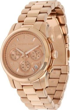Montre tendance : Michael Kors Midsized Chronograph Rose Gold Womens Watch Mk5128