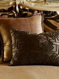 The safari inspired Victoria Falls pillow from Ralph Lauren has such beautiful beadwork