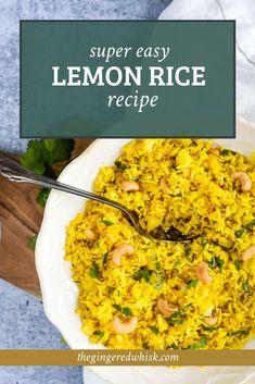 Easy Rice Recipes, Lemon Recipes, Quick Recipes, Side Dish Recipes, Dinner Recipes, Cooking Recipes, Healthy Recipes, Delicious Recipes, Cooking Food