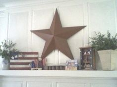 rustic americana summer mantel (4th of july)