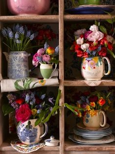 lovely teapots and flowers