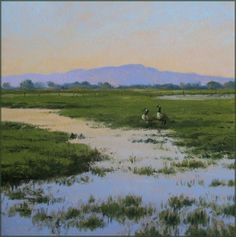 Flood Irrigation, painting by artist Don Gray