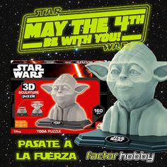 http://www.factorhobby.com/list.aspx?advs=1&search=STAR%20WARS&catg=&filt= ¡Crea tu propia escultura Yoda! #Maythe4thBeWithYou  May the 4th be with you