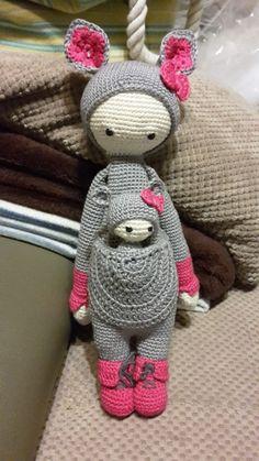 Kira the kangaroo made by Jeannette L. / crochet pattern by lalylala