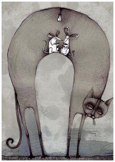 Illustrations by Polish Artist Agata Dudek aka Krecha Cartoon Drawings 60fb90aa1e4e4