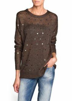 Mango Women's Sequined Mohair-Blend Sweater