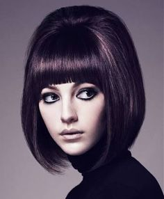 classic concave bob with fringe - Google Search