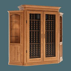 Wine Cabinets - Grandeur Cellars - A conditioned wine cabinet to store your wine. Featuring classic wood wine racks and a cellar pro system to keep your wine at the right temperature.
