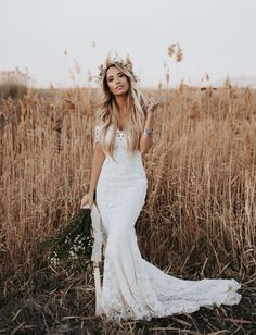 GWS Lovers Society Collection // boho lace wedding dress - Meg Legs of Style'd Avenue off the shoulder dress #bohoweddingdress #weddingdressstyles