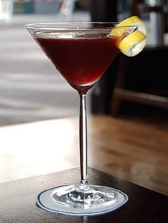 Chic Cocktails  Dijon Sidecar  2 oz. Hennessy VS cognac  1 oz. good-quality Crème de Cassis de Dijon (preferably Mathilde)  1/2 oz. fresh lemon juice.    Shake ingredients together and strain into chilled martini glass; serve with lemon twist.    Read more: Holiday Drink Recipes -    - Cocktail Recipes - Marie Claire