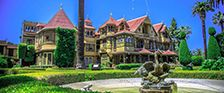 Winchester Mystery House, San Jose, CA - 160 room mansion built by the insane heir to the Winchester fortune.