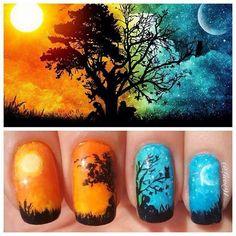 Day&night nails.