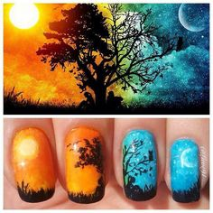 Day&night nails.