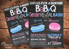 Funny BBQ Gender Reveal Invitation  He or She  by ReigningParties, $20.00