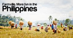 Farmville is definitely more fun in the Philippines. Places Around The World, Around The Worlds, Philippines Tourism, Smiling People, Tourism Department, Visayas, Mindanao, Tourist Spots, Pinoy