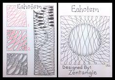 Zentangle : Tangle Pattern : Echoism | Flickr - Photo Sharing!