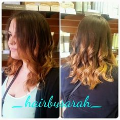 Beautiful rose gold balayage, hair painting at its finest.