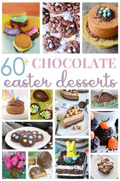 Nothing says decadent desserts like CHOCOLATE, right? Today I'm sharing over 60 of my favorite chocolate desserts perfect for gift giving and family meals during the upcoming Easter holiday! Easter Chocolate, Chocolate Desserts, Chocolate Lovers, Easy Desserts, Delicious Desserts, Yummy Food, Easter Recipes, Holiday Recipes, Easter Ideas
