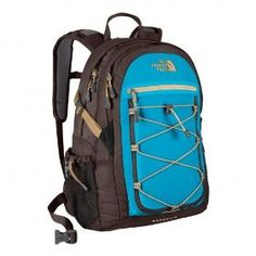 The North Face Borealis Daypack - Women's, Brunette Brown/Acoustic Blue, One Size.             Named after the Greek god of northern wind, the aptly named North Face Borealis is winged for support and will bravely welcome any wintery gusts. Built with an Airmesh back panel with Spine Channel alignment, Borealis will offer supreme back support for your terrestrial (t...