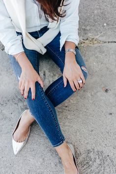 skinnies and flats