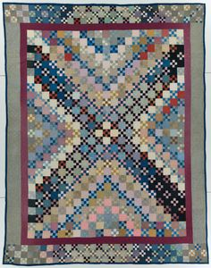 QUILT TOP of unknown de Amish styled unique pattern Incredible Patchwork