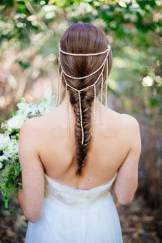 Hair Style | Hair Accessory | Photography: Closer to Love Photography | See more on SMP: http://www.stylemepretty.com/2013/11/22/hunger-games-wedding-inspiration-from-closer-to-love-photography