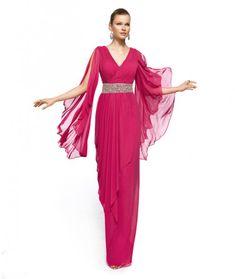 elegante vestido con mangas1