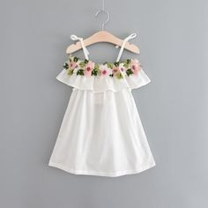Cheap girls beach dresses, Buy Quality summer girl directly from China dress kids Suppliers: 2017 Summer Girls beach Dress sweet embroidered strap dress kids Casual Beach ClothesToddler Baby Girls Off Shoulder Cape Collar Wedding Party Princess Strap Toddler Dress, Toddler Outfits, Baby Dress, Kids Outfits, Toddler Girl, Little Girl Dresses, Girls Dresses, White Off Shoulder Dress, Shoulder Cape