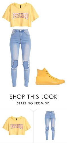 """Untitled #354"" by thenerdyfairy on Polyvore featuring Converse"
