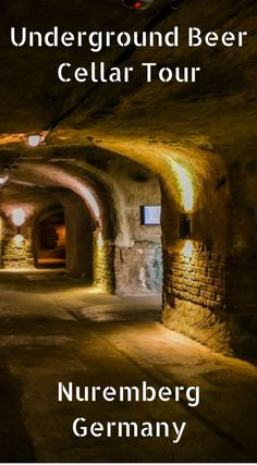 Underground Beer Cellar Tour in Nuremberg Germany. If you buzz out of town without spending a night, you won't have a chance to head underground at the Altstadthof Brewery for a guided tour of their historic rock-cut cellars. I think it is safe to say tha European Vacation, European Travel, Vacation Spots, Nuremberg Germany, Bavaria Germany, Budapest, German Christmas Markets, Reisen In Europa, Germany Travel