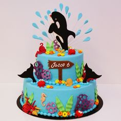 orca cake | Killer Whale — Childrens Birthday Cakes