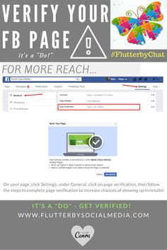 It's a DO, verify your Facebook page for more reach | #FlutterbyChat