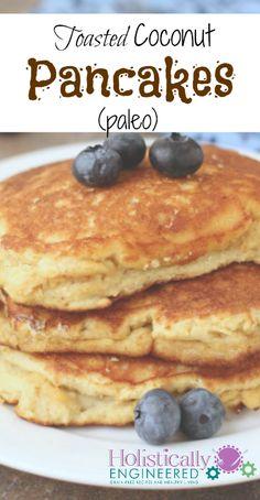 Toasted Coconut Pancakes #paleo