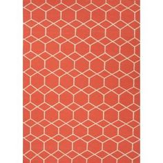 Check out the Jaipur RUG1027 Maroc Flat-Weave Geometric Pattern Wool Red/Ivory Poppy Area Rug