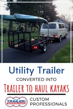5 x 8 Utility Trailer converted into trailer to haul kayaks with Malone Top Tier kayak Rack. Let us turn a single trailer into the trailer of your dreams through our customization process. Custom Trailers, Cargo Trailers, Utility Trailer, Trailers For Sale, Enclosed Car Trailer, Single Trailer, Cool Truck Accessories, Landscape Trailers, Kayak Trailer